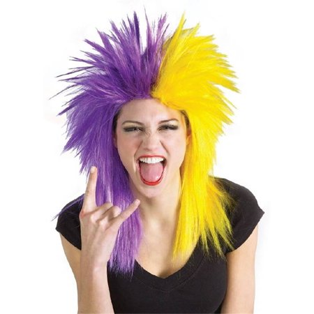 Purple And Yellow Wig](Lakers Clippers Halloween)