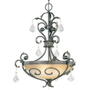 Avalon Hanging Light in Bronze Finish (No Crystals)