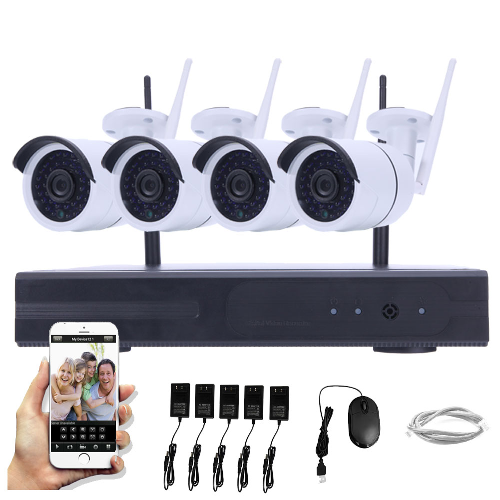 Ktaxon 4CH 720P WIFI NVR Outdoor CCTV Wireless Security N...