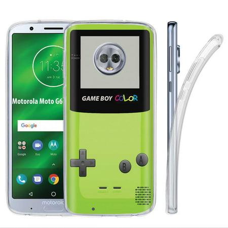 huge selection of 1f86b 368e7 [NakedShield] Motorola Moto G6 [Clear] Ultra Slim TPU Phone Cover Case  [Game Boy Color Print]