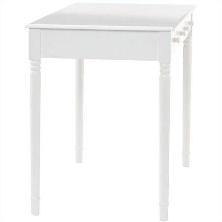 Southern Enterprises Wood Writing Computer Desk in Crisp White - image 3 de 9