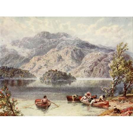 Scotland 1910 Ben Venue & Ellens Isle Loch Katrine Canvas Art - Unknown (18 x 24)