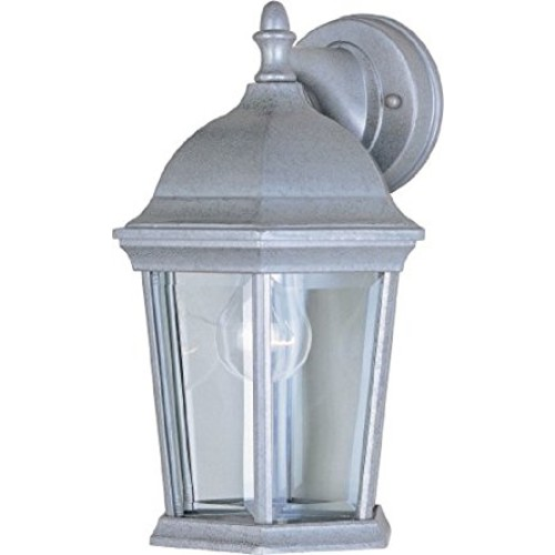Maxim Lighting 1024PE One Light Glass Wall Lantern, Pewter [Pewter]