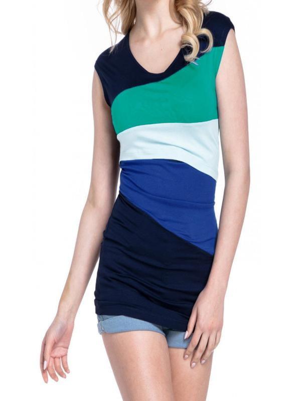Womail Women's Maternity Nursing Wrap Top Color Block Double Layer Blouse T Shirt