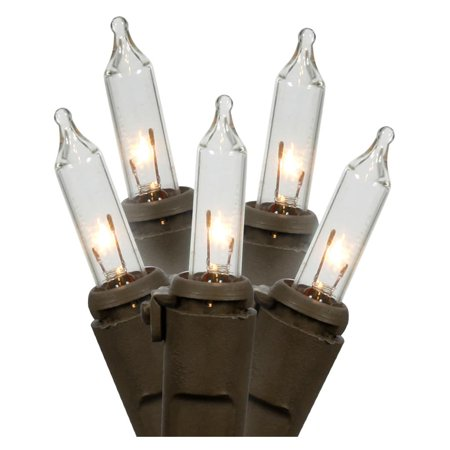 Deco Lights String Lights: 15 Clear Bulbs, Brown Cord