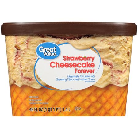 Great Value Strawberry Cheesecake Ice Cream, 48 oz