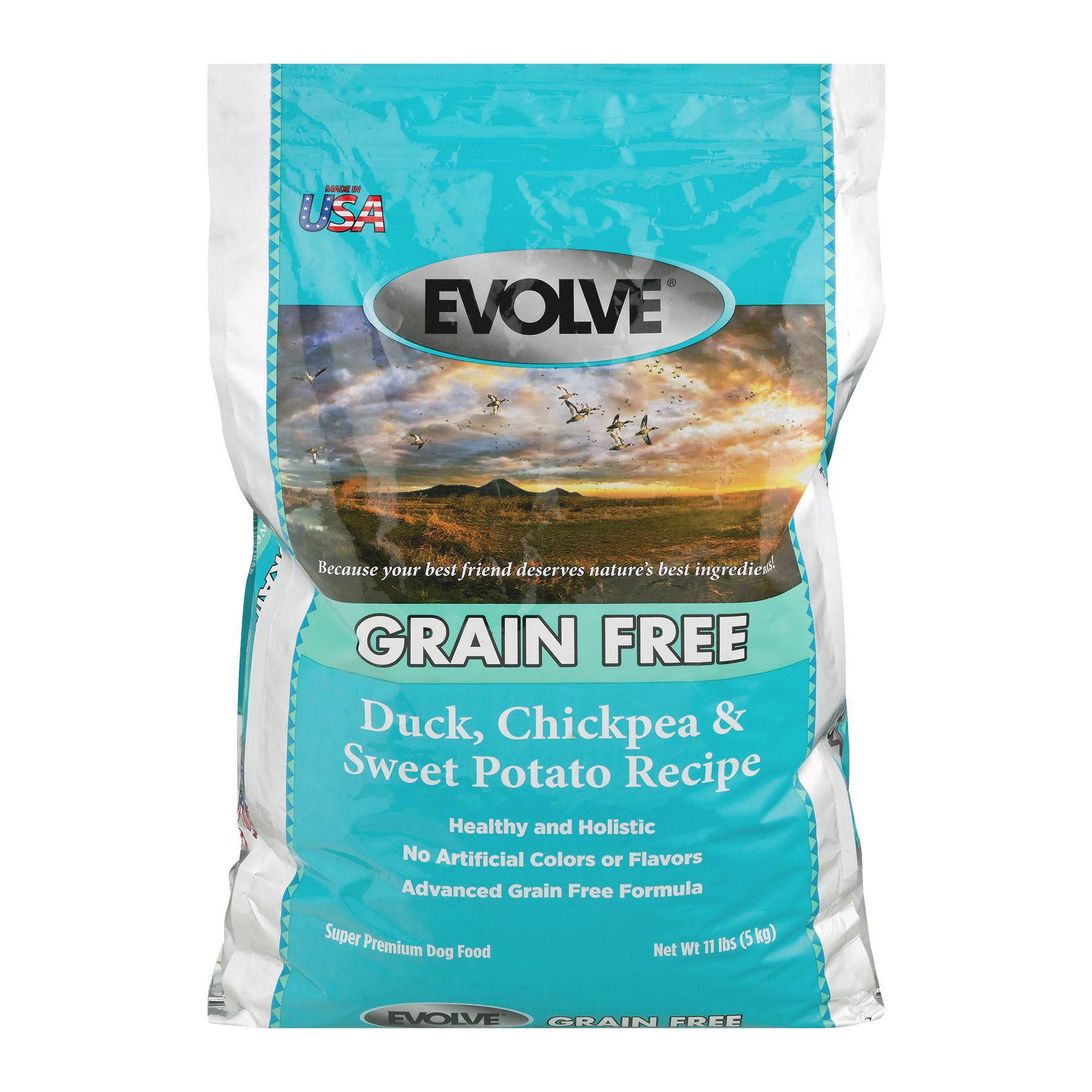 Evolve Grain Free Super Premium Dog Food Duck, Chickpea & Sweet Potato Recipe, 11.0 LB