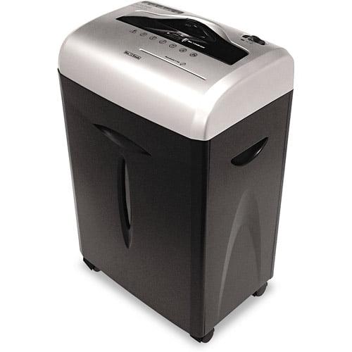 Aurora 12-Sheet Cross-Cut ShredSafe Paper/CD/Credit-Card Shredder with Pull-Out Wastebasket