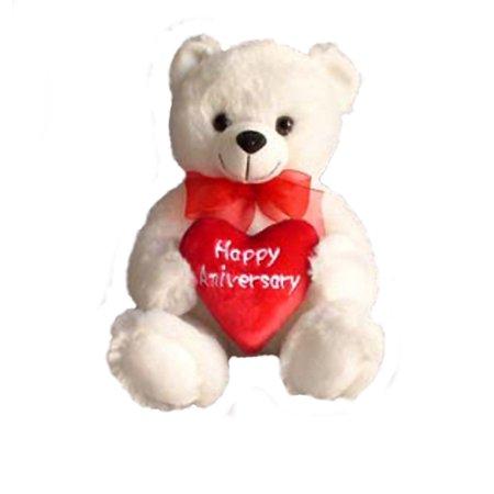 Anniversary Teddy Bear Woman Gift Happy Wedding Anniversary Plush Bear 77001