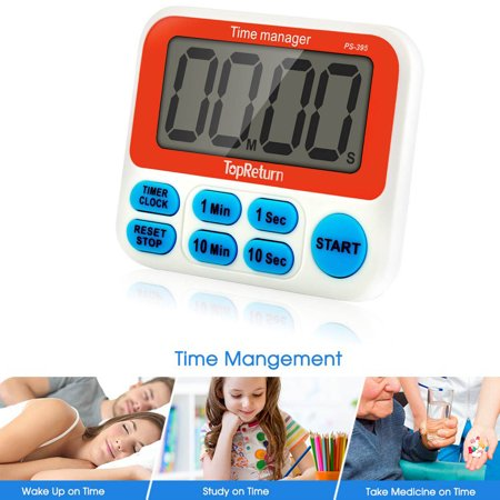 Digital Kitchen Timer, Cooking Timer, Large Display, Strong Magnet Back, Loud Alarm, Count-Up & Count Down for Cooking Baking Sports Games Office