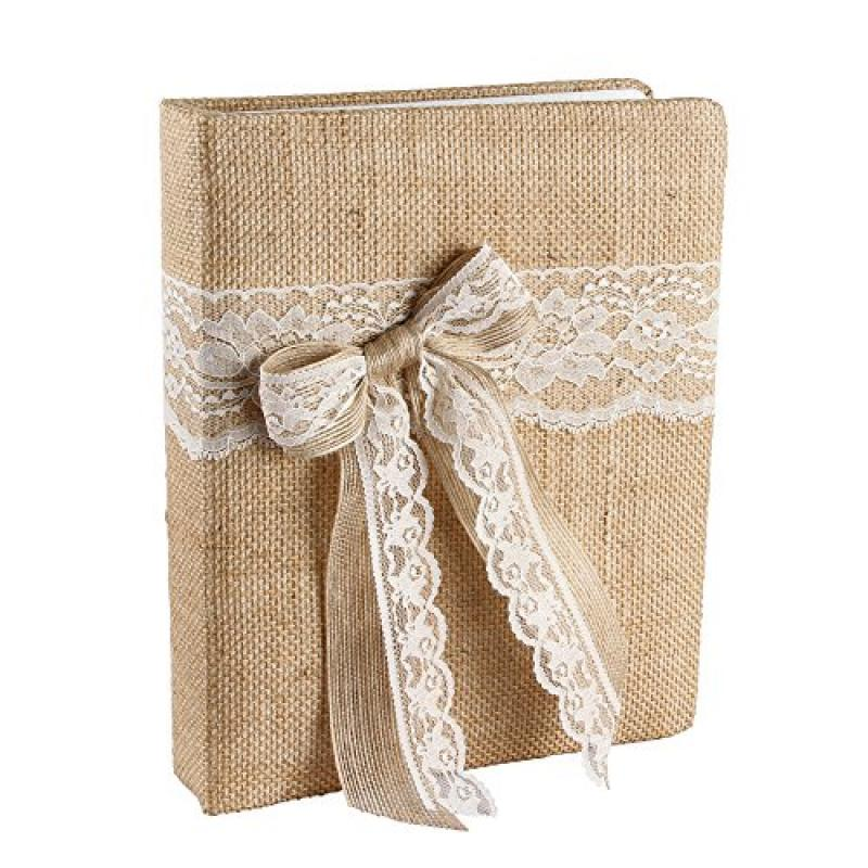 Ivy Lane Design Country Romance Wedding Memory Book, Ivory