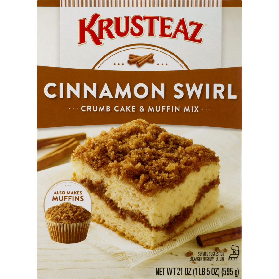 Krusteaz Cinnamon Swirl Crumb Cake & Muffin Mix, 21 oz