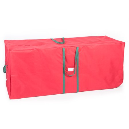 "58"" Christmas Tree Bag Storage with Wheels in Red"