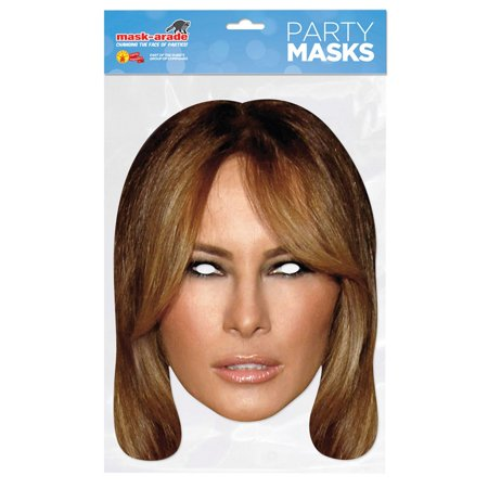 Paper Melania Mask Halloween Costume Accessory - Halloween Mask Paper Plate