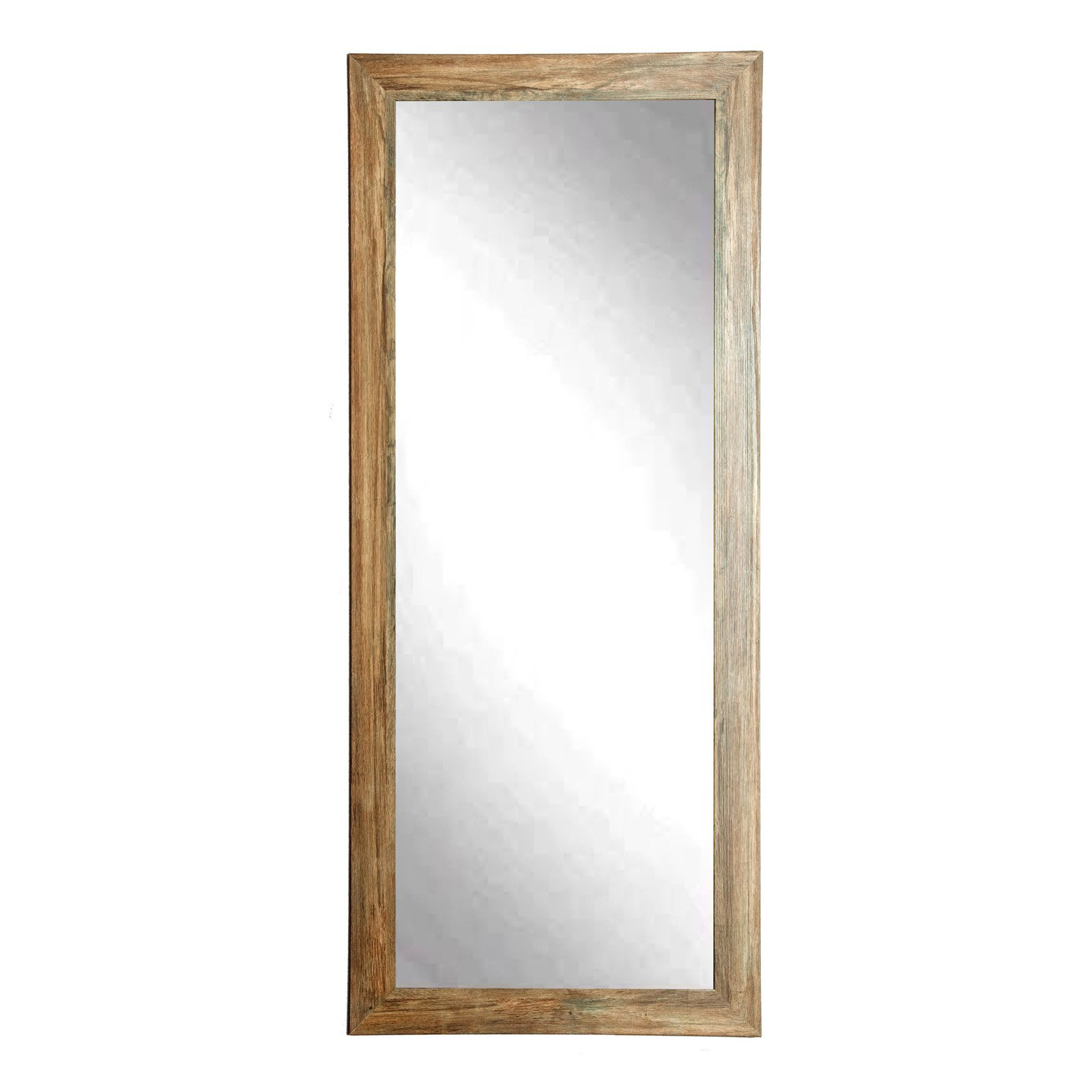 BrandtWorks Blonde Barnwood Leaning Floor Mirror by American Made