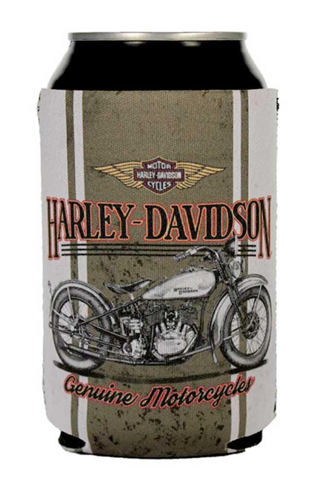 Harley-Davidson Flathead Motorcycle Can Wrap Flat, Brown & Tan Neoprene CF19286, Harley Davidson by Harley-Davidson