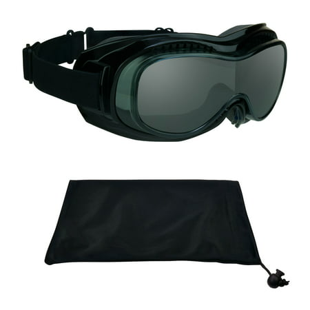 Fit Over RX Glasses Goggles to Cover Prescription for Motorcycle Riding, Skiing, Snowboard, Cycling and (Motorcycle Goggles That Fit Over Prescription Glasses)