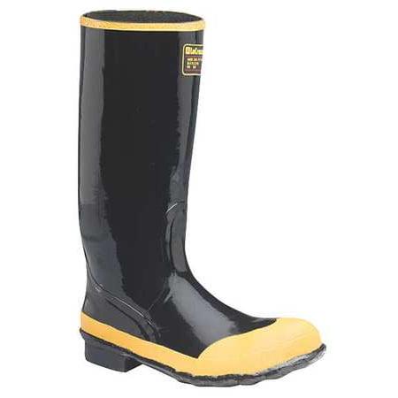 Lacrosse Size 10 Steel Toe Rubber Boots, Men's, Black, 24009043 (Lacrosse Steel Boot)