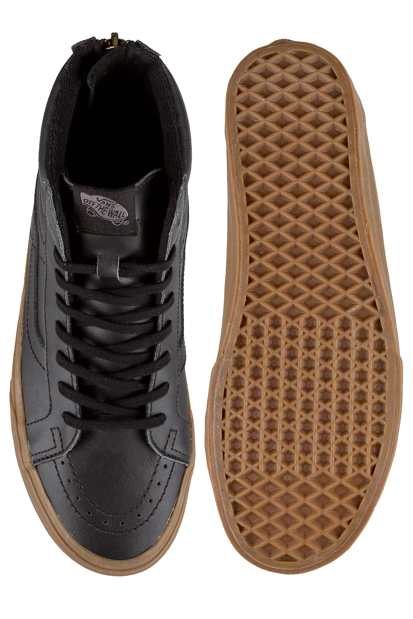 25f98afb8e5fe2 Vans - Vans Sk8-Hi Reissue Zip Hiking Navy   Gum Ankle-High Skateboarding  Shoe - 10M 8.5M - Walmart.com