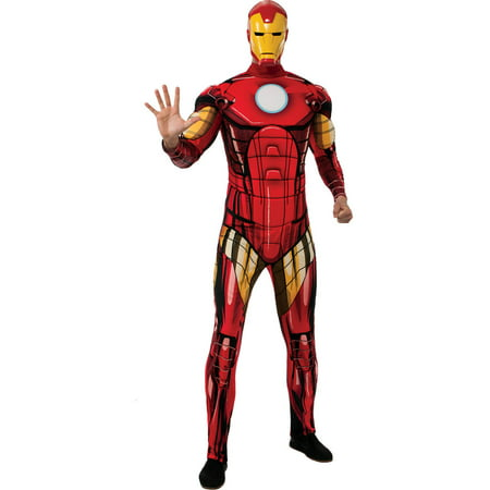 Iron Man Deluxe Men's Adult Halloween Costume, One Size, Standard (44)