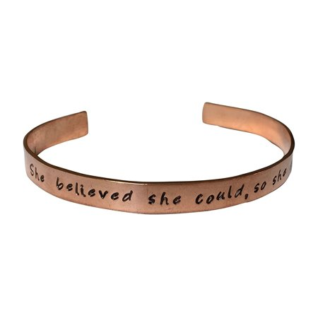 She Believed She Could, So She Did. Hand Stamped 1/4