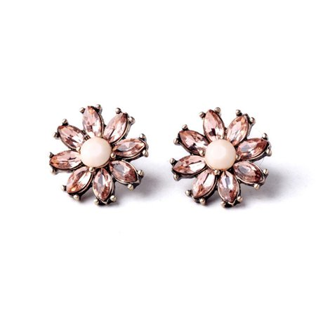 KABOER New Item Design Women Simple Crystal Flower Joker Costume Earrings Factory Wholesale (Design Costume Jewelry)