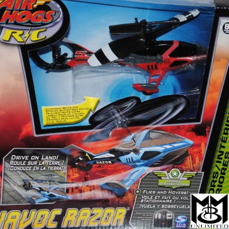 Air Hogs Havoc Razor Helicopter with Landing Gear, Flies and Drives on the Ground Red by