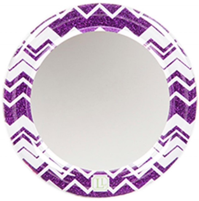 LockerLookz Locker Mirror - Purple Chevron - 1 piece
