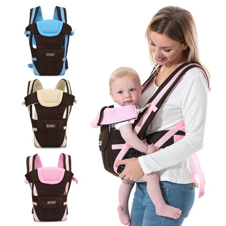 Lightweight Adjustable 4 Carrying Position Newborn Infant Baby Carrier Backpack Breathable Ergonomic Wrap Sling Khaki, Blue, Pink