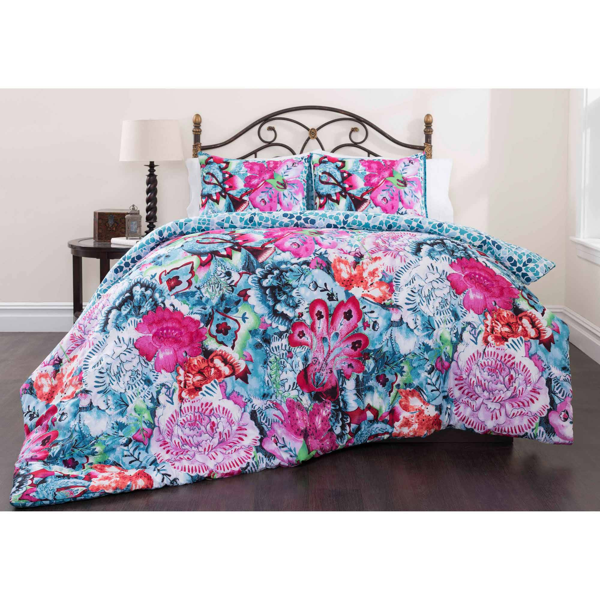 Mosaic Garden Bedding Duvet Cover Set