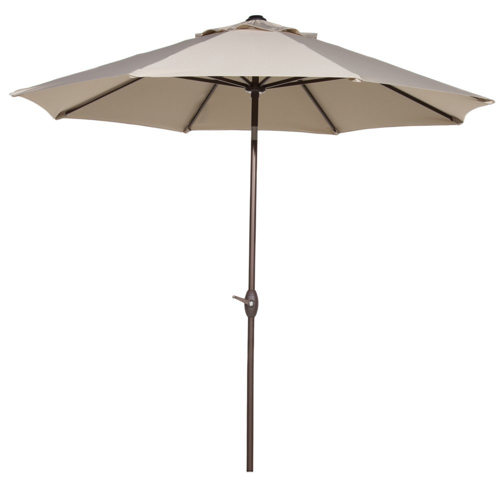 Abba Patio 11-Ft Patio Umbrella with Push Button Tilt and Crank, 8 Steel Ribs, Beige by Patio Umbrellas