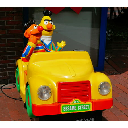 Framed Art For Your Wall Bert And Ernie Electric Car Sesamstrasse Children 10x13 Frame (Bert And Ernie Halloween Costumes For Adults)