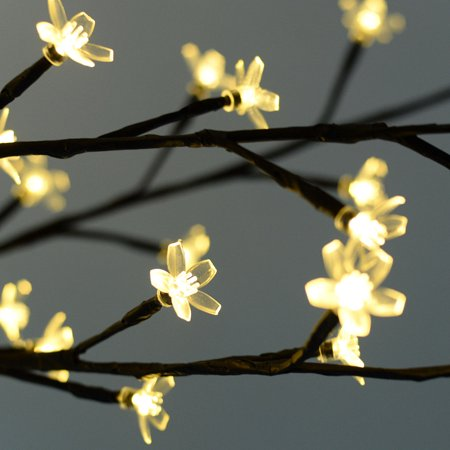 Costway Christmas Xmas Cherry Blossom Led Tree Light Floor