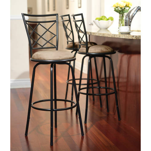 3-Piece Avery Ajustable Height Barstool, Multiple Colors