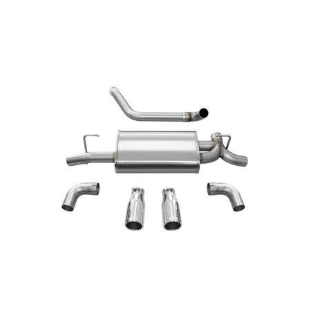 Corsa 18+ Jeep Wrangler JL 2.5in Dual Rear Exit Polished Tips Sport Axle-Back Exhaust