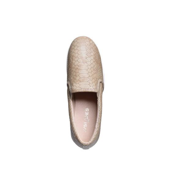 dec47fa74356 J Slides - J Slides Genna Slip On Sneaker Wedge - Taupe Embossed Lux -  Walmart.com