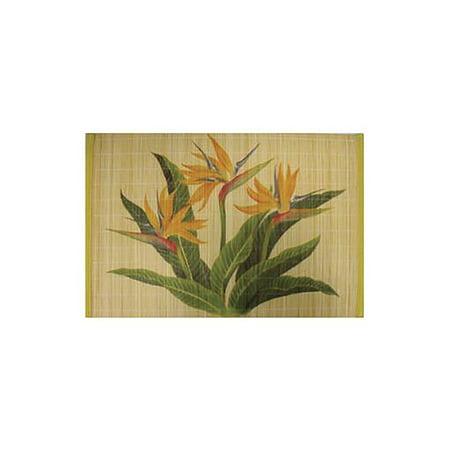 Bamboo Placemat (Hawaiian Style Bamboo Placemat Bird of Paradise Set Of)