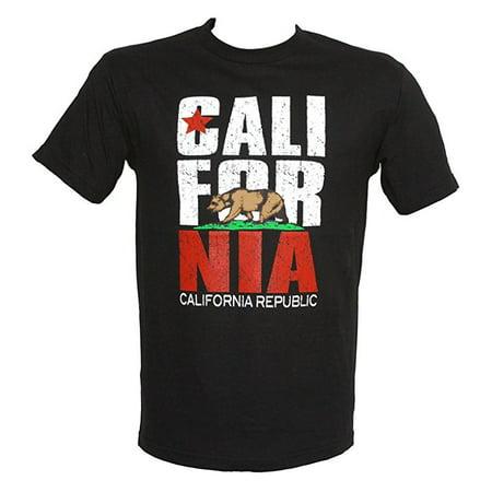 California Republic Bear Mens Bold Crew Neck Novelty Shirt-2XL (California Novelty)