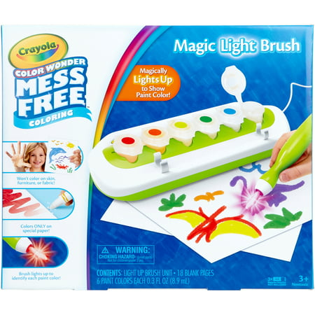 Crayola Color Wonder Magic Light Brush Set, Ages 3+