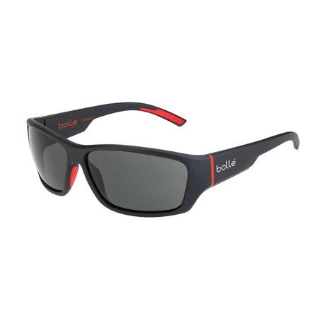 Ibex Matte Black Red 12372 Sunglasses Polarized TNS Oleo Lens Large