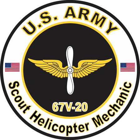 5.5 Inch U.S. Army MOS 67V20 Scout Helicopter Mechanic (22 Inch Rc Helicopter)