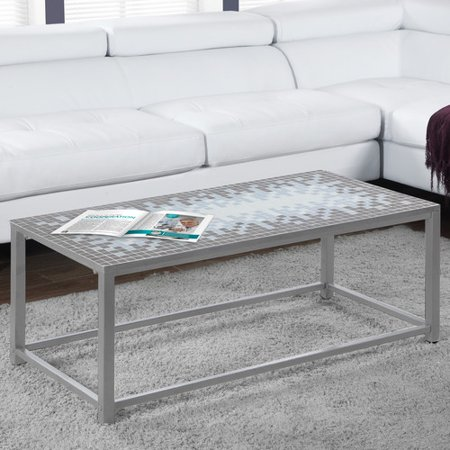 Monarch Coffee Table Grey / Blue Tile Top / Hammered - Monarch Blue