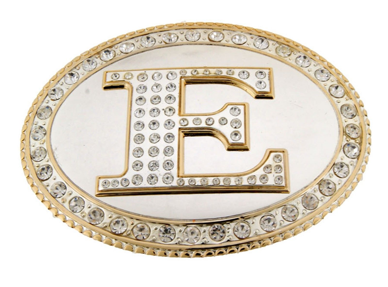 Big Initial Belt Buckle Monogram Letter Alphabet Texas USA Rodeo Western Cowboy