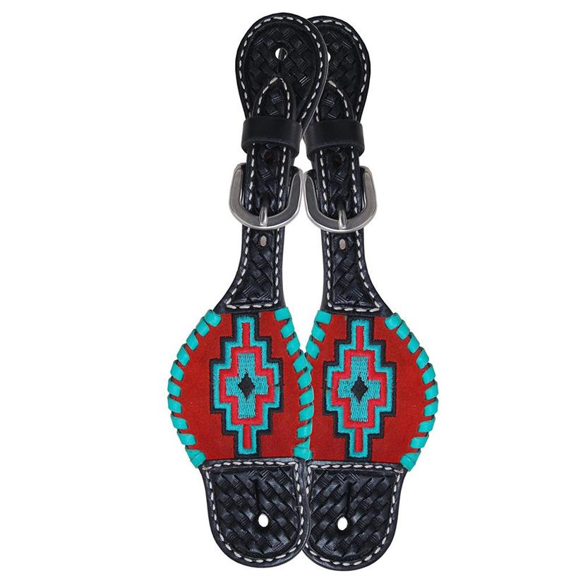 Rafter T Ranch Kids Aztec Spur Straps by