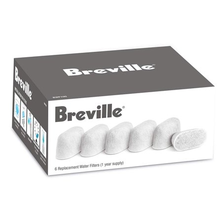 BWF100 Single Cup Brewer Replacement Charcoal Filters White, Compatible with Breville espresso machines BES900XL, BES860XL, BES840XL, and the coffee.., By