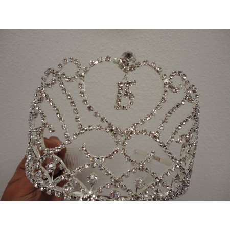 Heart and Charm Tiara Sweet 15 Quince Quinceanera](Sweet 16 Tiaras)
