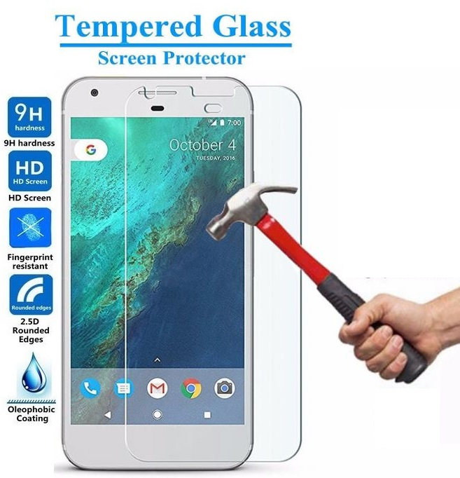 2 Pack Premium Crystal Clear Tempered Glass Screen Protector Cover for Google Pixel - 2 Pcs AmazingForLess
