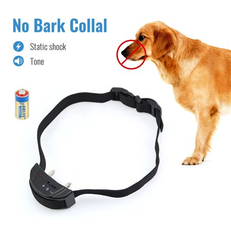 Petrainer PET852 Dog Bark Collar Electric Shock Collar No Bark Collar Warning Beeper Bark Control E-Collar ()