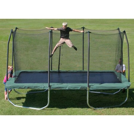 Skywalker Trampolines 14 Rectangle Trampoline And Enclosure  Green Box 1