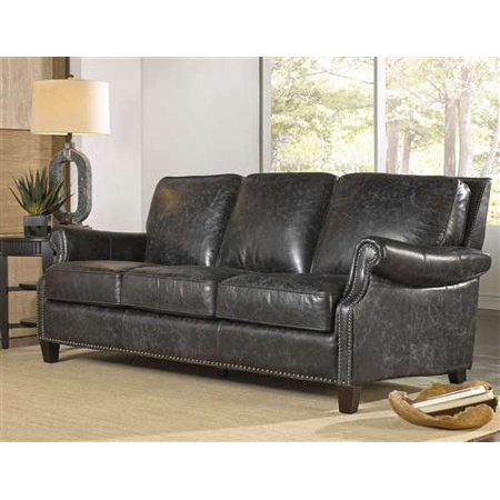 Fantastic Lazzaro Nathan Leather Sofa In Charcoal Gamerscity Chair Design For Home Gamerscityorg